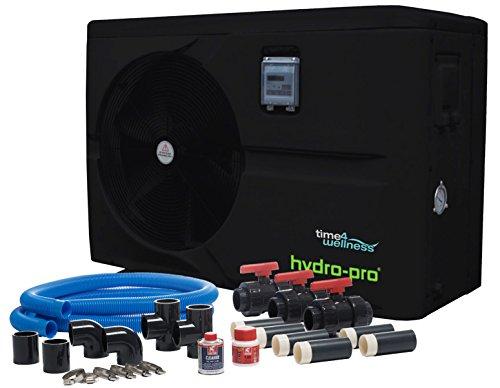 BEVO Hydro-Pro Wärmepumpe 10 kW 230 V Ganzjahresmodell bis 45 m³ mit Bypass-Set by time4wellness