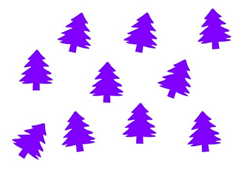 Miniblings 10x Sapin Transfert Tissu Correctifs Aspect Velours Patch de Noël I Patches correctifs à Repasser Repassage, Color:Lila