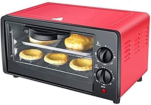 Horno multifunción, horno de tostadora de convección de encimera, con bandeja de horneado y bastidor de aseo 12L mini horno Temperatura ajustable y bandeja de miga.