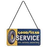 Nostalgic-Art Cartel Colgante Retro Goodyear Service – Idea de Regalo para los Aficionados a los...