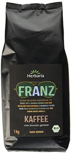 Herbaria Franz Kaffee ganze Bohne BIO, 1er Pack (1 x 1 kg)