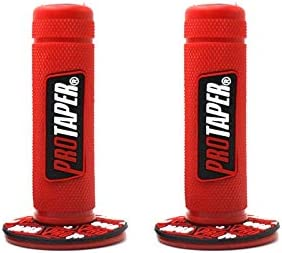 Red motorcycle grips