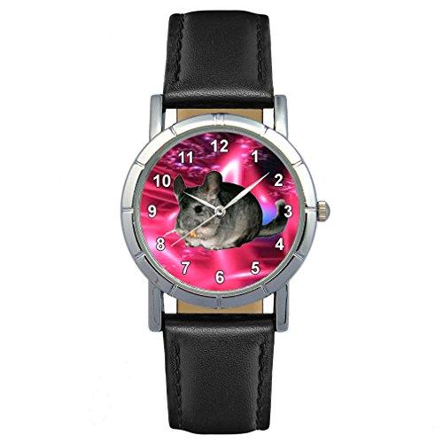Timest - Chinchilla - Montre Femme - Bracelet Cuir Noir Rond Analogique Quartz SA1765