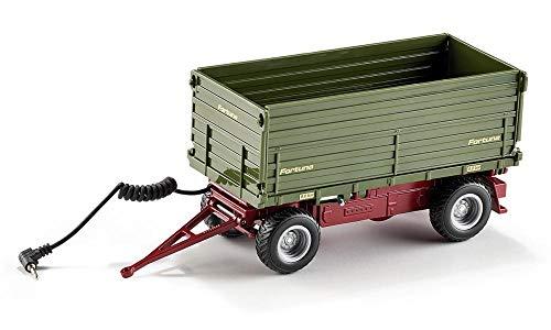 Siku 6781, Zweiseitenkipper Anhänger, 1:32, Ferngesteuert, Für Siku Control Fahrzeuge mit Anhängerkupplung, Metall/Kunststoff, Grün