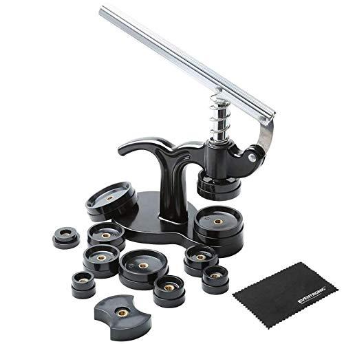 Eventronic Set Pressa Orologio Professionale, 14 Pezzi Chiudi Cassa Posteriore Orologio, Kit di Riparazione