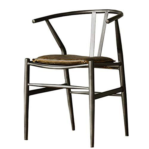 THBEIBEI Dining Chair Stuhl Computer-Büro-Kaffee Stühle Industrie Retro Style Dekorative Materialien Gesamt Verwendung Massivdraht PU-Leder-Low Noise Stuhl