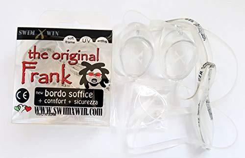 Swimxwin The Original Frank - Gafas de natación para competición y entrenamiento, antiempañamiento, protección UV (transparentes)