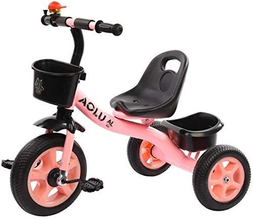 GYF Triciclo de tres ruedas para niños y niñas, triciclo rosa, edad para triciclo 2/3/4/5/niño de edad