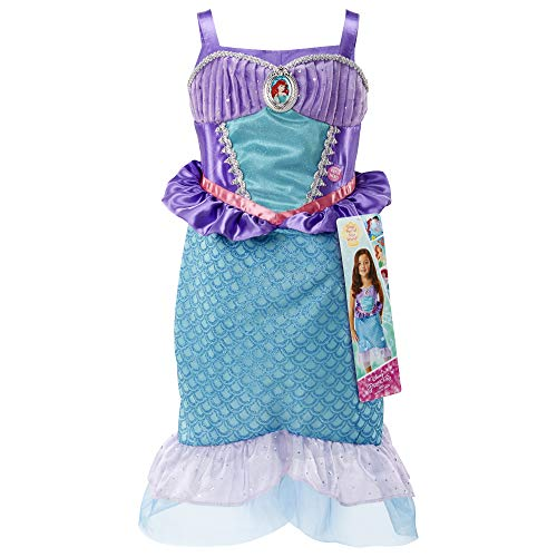 Disney Princess Ariel Dress Costume, Sing & Shimmer Musical Sparkling Dress, Sing-A-Long To ?A Part of Your World? Perfect for Party, Halloween Or Pretend Play Dress Up [Amazon Exclusive]