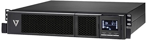 V7 UPS1RM2U1500-1E USV 1500VA Rack Mount 2U  (1350W, 8 Ausgänge IEC-C13, AVR, LCD-Display, EU+UK)