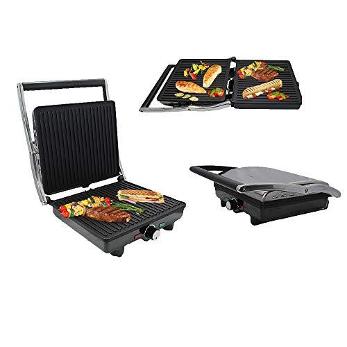 Küche 3 in 1 Sandwich Toaster Waffeleisen Fünf-Portionen-Grill mit verstellbaren hinteren Fuß Antihaftplatten und...