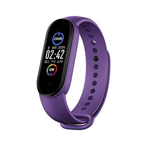 YONGQING M5 Pulsera inteligente impermeable Bluetooth Fitness Tracker Presión arterial Monitor de frecuencia cardíaca Podómetro para mujeres, hombres y niños