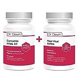 Set bestehend aus Dr. Dewin® Curcumin VITAL FIT + Haar Vital EXTRA | Curcuma-Extrakt + Piperin |...