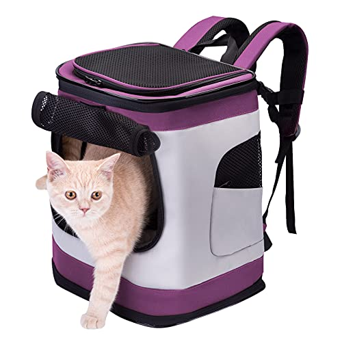 HAPPY HACHI Dog Carrier Backpack Waterproof Puppy Cat Rucksack Pet Soft Sided Padded...