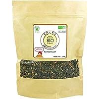 ✅ *** BIO *** Genmaicha orgánico Green Tea 150 g - Té verde Sencha orgánico con arroz a la parrilla - Tradición Japonesa - Bolsa de Kraft - Certificado AB por Ecocert - GENMAICHA150G