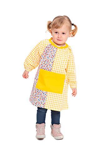Ardeco's - Bata guardería sin botones Fiesta amarilla niña
