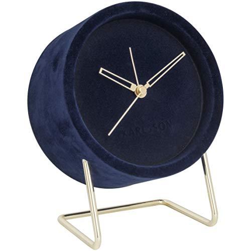 Karlsson - wekker, tafelklok - Lush - van fijn fluweel - afmetingen (LxBxH): 18x14x8 cm