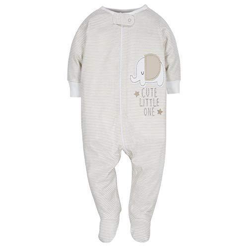 Gerber Baby 4-Pack Sleep N' Play, Clouds/Elephant, 0-3 Months