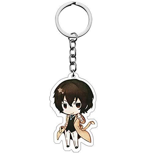Tiffley Time Bungo Stray Dogs Schlüsselanhänger, Anime Kawaii Schlüsselbund für Rucksack, Schlüssel und Mäppchen(Style 41)