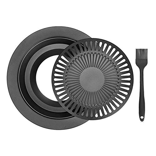 CVMFE Grilltragbare Koreanische Rauchfreie Barbecue-Gasgrillpfanne Für Den Haushalt Rauchfreie Gasherdplatte Für Den Grill Grill-Kochwerkzeug-Sets