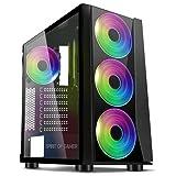 Spirit Of Gamer - Ghost One - PC Gamer ATX/Caja Matx - Frente Y Pared De Vidrio Templado - 1 Ventilador LED RGB 120mm - LED RGB : 60 Modos - Compatible con Aura/MSI Mystic/ASROCK (Ghost III)
