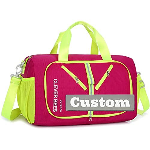 Nome personalizzato Escursionismo uomini zaino leggero impermeabile pieghevole pieghevole Daypack pieghevole Nylon Bag, rosa, Taglia unica,