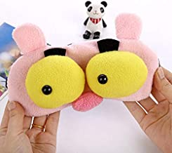 ❤️ HugSnug ❤️ - Pink Panther Cute Animal Kids Sleep Mask for Boys and Girls Sleeping, Eye Mask Soft And Blocks Light with Adjustable Straps (Pink)