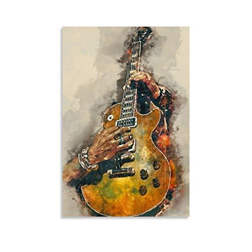 Póster de guitarra eléctrica de Slash y arte de pared moderno para...