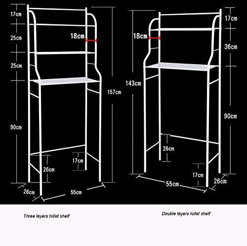DLL Regal-Multifunktions-Badezimmerregal, Geeignet Für Toilettenregale Für Toilettenwaschregale,Doppelschichten
