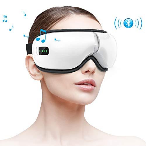 HOMIEE Elektrische Augenmassagegerät mit Wärmefunktion, Luftdruck, Natürlicher Musik, Tragbares Augenmassagegerät für trockene Augen-Überanstrengung, Ermüdung und Stressabbau (wiederaufladbar)
