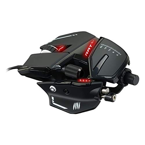 Mad Catz R.A.T. 8+ Gaming Mouse (USB/Black/16000dpi/11 Buttons) - MR05DCINBL000-0