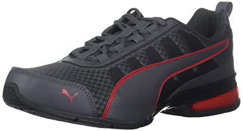 PUMA Leader Vt - Tenis de malla para hombre, gris (Rojo de alto riesgo de asfalto.), 46 EU