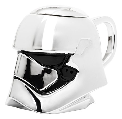Star Wars - Taza de cerámica, diseño Capitán Phasma 3D, con Tapa
