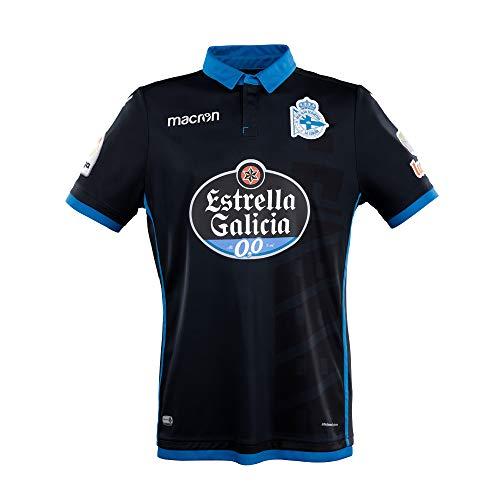 RC Deportivo Camiseta 3ª Equipación 2017/18, Unisex Adulto, Negro, XL