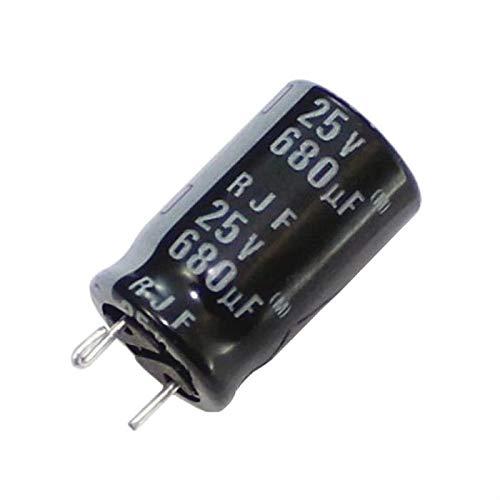 10x Elko Kondensator radial 680µF 25V 105°C ; RJF-25V681MH4#N-F49 ; 680uF