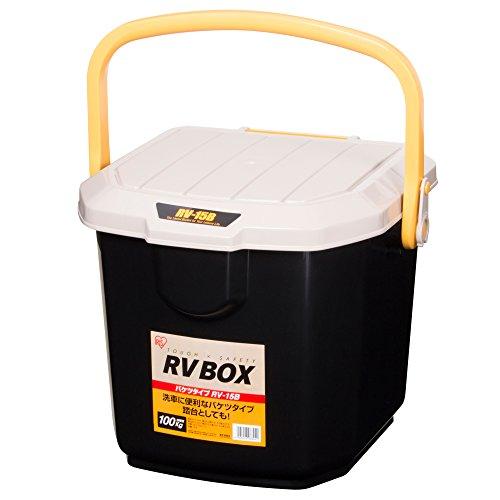 アイリスオーヤマ ボックス RVBOX バケツ RV-15B カーキ/ブラック 幅34×奥行31.5×高さ27.5cm