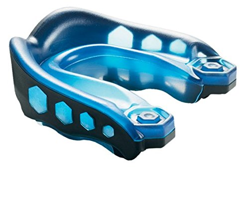 Shock Doctor Gel Max Convertible Mouth Guard, Blue/Black, Youth