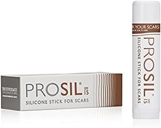 Pro-Sil SPF (Pro-Sil Sport) Patented Silicone Scar Treatment Stick w/Sunscreen (SFP 15) – Clinically Proven to Reduce the Appearance of Old & New Scars – Easy Glide-on Applicator, 17g
