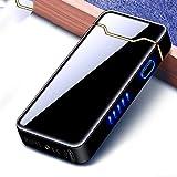 Mechero electrónico de arco eléctrico con USB, recargable, resistente al viento, larga vida útil, con indicador de batería, para cocina, barbacoa, velas, cigarrillos, hombres y mujeres