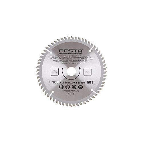 FESTA - Hoja de sierra circular para madera TCT 160 mm/2. 8/20/60.