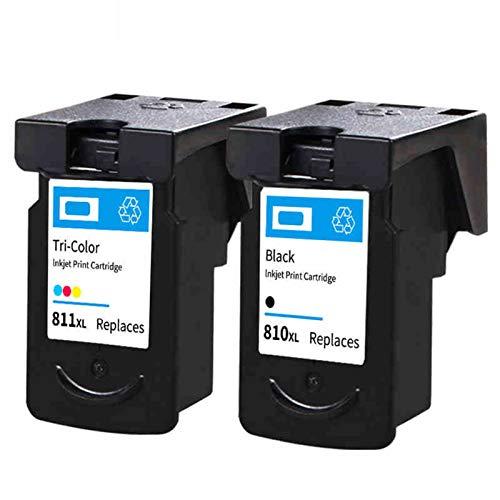Reemplazo de cartuchos de tinta remanufacturados para Canon PG810XL CL811XL, para Canon MP258 MP276 MX328 PIXMA IP2770 2772 MP237 245 258 268 276 287 Impresora 1*black1*color