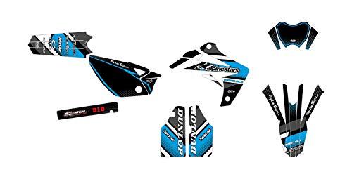 Deko-Set Motocross RIEJU MRT 50 Comics, Blau