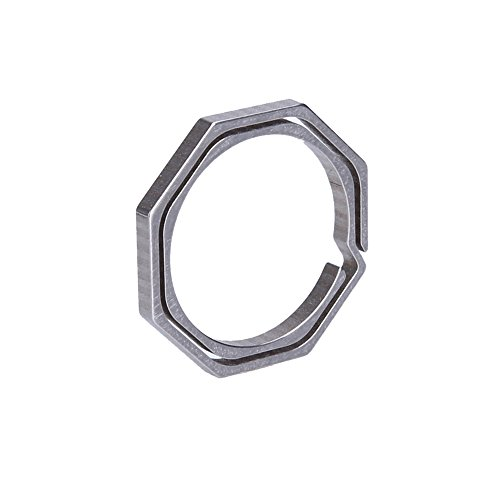 N/F Outdoor Accessories Titanium TC4 Ti Key Chain Octagon Key Ring Keychain CNC Size 30mm