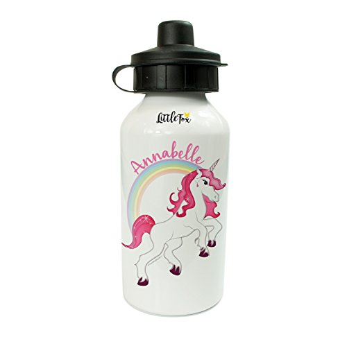The Supreme Gift Company Personalised Kids Drinks Water Bottle Unicorn Theme For Girls (400ml)