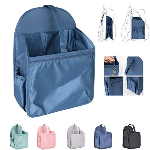 HyFanStr Nylon Rucksack Organizer, Bag in Bag Handtaschen Organizer für A4-Papier(Navy Blau,L)