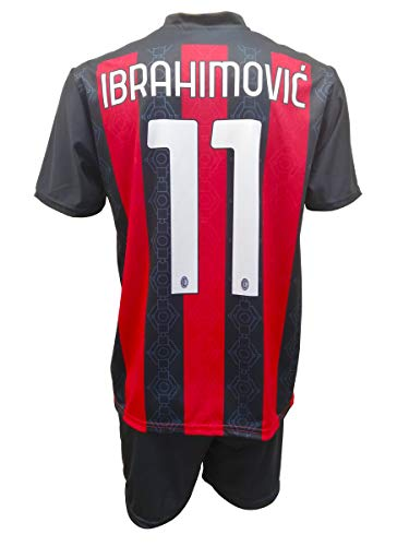3R SPORT SRL Completo Milan Zlatan Ibrahimovic 11 Replica Autorizzata Bambino (Taglie-Anni 2 4 6 8 10 12) Adulto (S M L XL) (8/9 Anni)