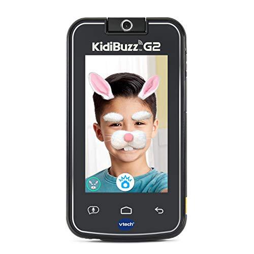 VTech KidiBuzz G2 Kids' Electronics Smart Device with KidiConnect, Black