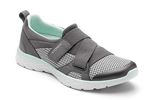 Vionic Women's Brisk Dash Slip-on Sneaker Grey Mint 9M