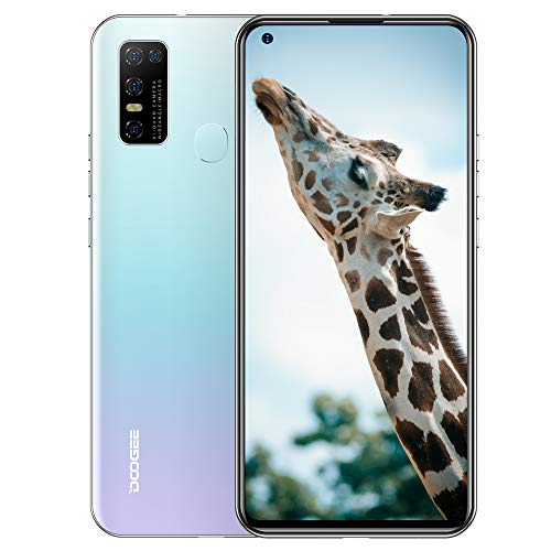 Unlocked Smartphone DOOGEE N30 4GB+128GB Android 10 Phone, 6.55 inch HD+ Display, 4180mAh, International Dual 4G SIM, no Bloatware, GSM, LTE, AT&T, T-Mobile, OTG, Face ID, Fingerprint (Misty White)