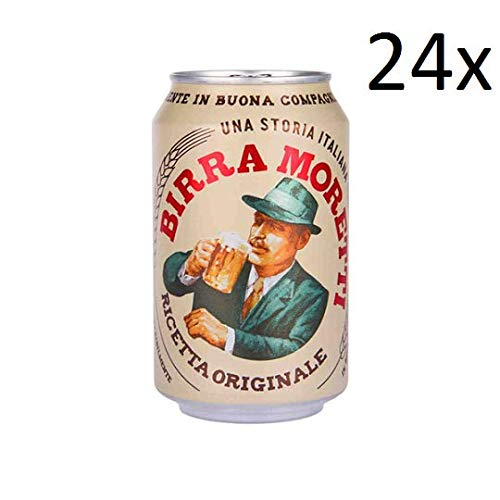 24x Birra Moretti ricetta originale 100% Italienisches Bier 33 cl 4.6% Vol